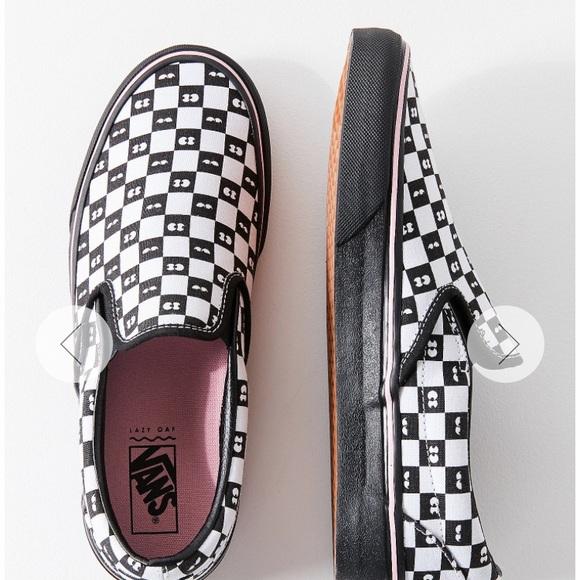 Vans X lazy oaf classic slip on sneakers. M 5b2fcfa30cb5aa4dc28f936e 2511953c24